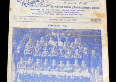 Chelsea v Blackburn 27.08.1932