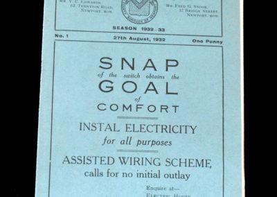 Newport v Clapton Orient 27.08.1932