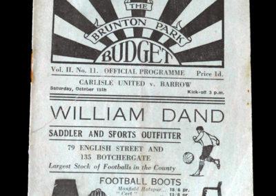Carlisle v Barrow 15.10.1932