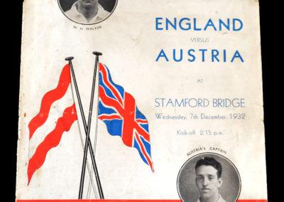England v Austria 07.12.1932