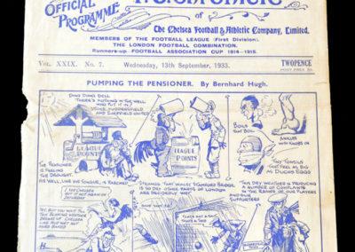 Chelsea v Huddersfield 13.09.1933