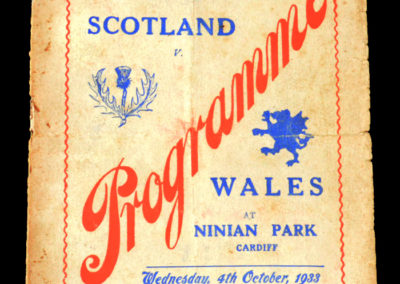 Wales v Scotland 04.10.1933