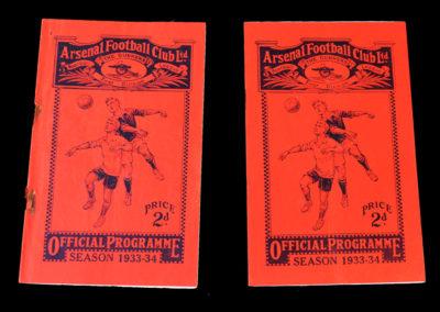 Arsenal v Liverpool 02.12.1933 | Arsenal v First Vienna 04.12.1933