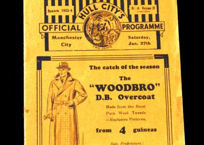 Hull v Manchester City 27.01.1934
