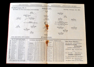 Arsenal v Everton 03.02.1934