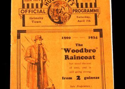 Hull City v Grimsby 07.04.1934