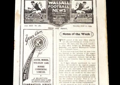 Walsall v Southport 21.04.1934
