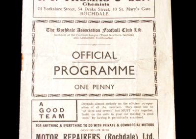Rochdale v Stockport 28.04.1934