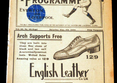 Everton v Aston Villa 05.05.1934 | Liverpool Reserves v Newcastle Reserves 12.05.1934