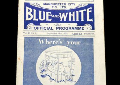 Man City v Stoke 15.09.1934