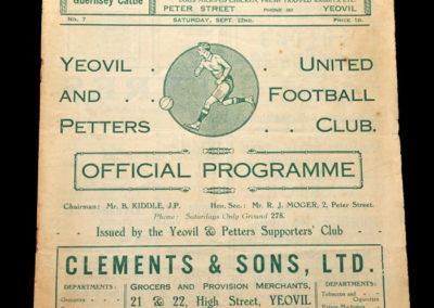 Yeovil v Cardiff 22.09.1934