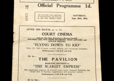 Wigan v Nelson 29.09.1934