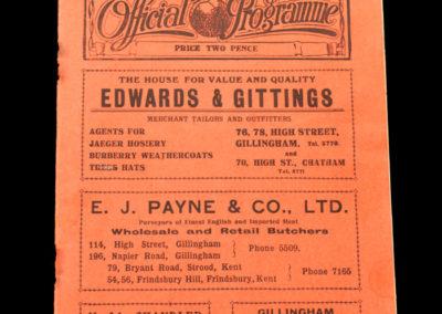 Gillingham v Bristol City 23.02.1935