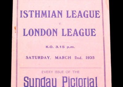 Isthmian League v London League 02.03.1935 Denis Compton at 16.