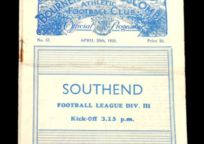 Bournemouth v Southend 06.04.1935