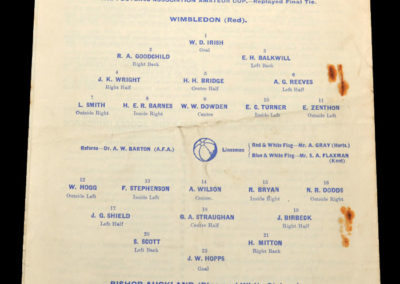 Wimbledon v Bishop Auckland 20.04.1935