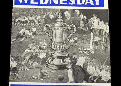 Shef Wed v Grimsby 04.05.1935 - Cup Souvenir
