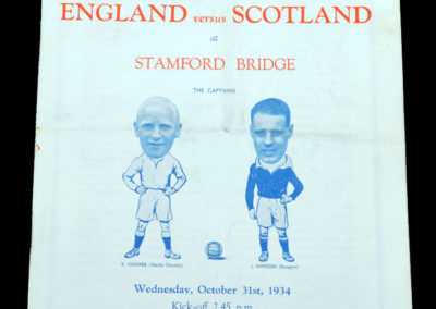 English League v Scottish League 31.10.1934