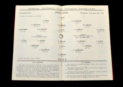 England v Italy 14.11.1934