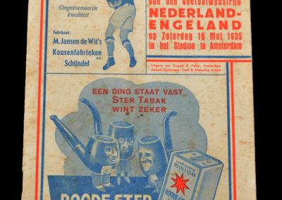 Netherlands v England 18.05.1935