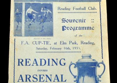 Reading v Arsenal 16.02.1935