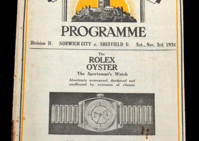 Norwich v Sheffield Utd 03.11.1934