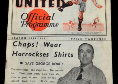Manchester Utd v Sheffield Utd 05.01.1935