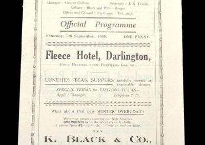 Darlington v Hartlepools 07.09.1935