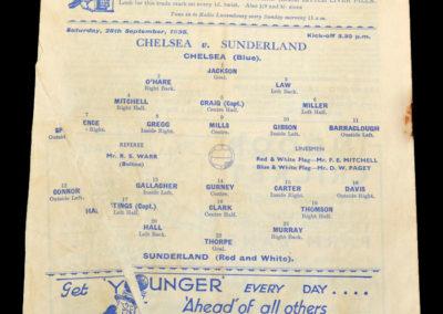 Chelsea v Sunderland 28.09.1935