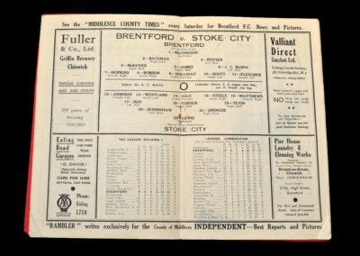 Brentford v Stoke 19.10.1935