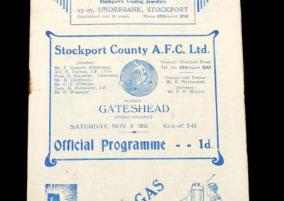 Stockport v Gateshead 02.11.1935
