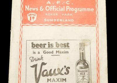 Sunderland v Middlesbrough 23.11.1935