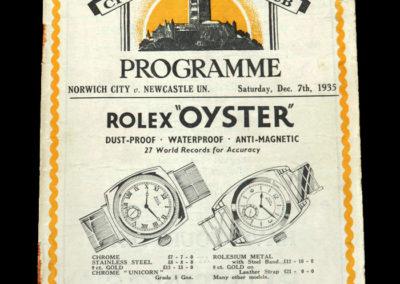 Norwich v Newcastle 07.12.1935