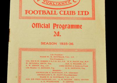 Port Vale v Sunderland 13.01.1936