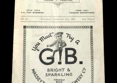Burnley A v Bury A 15.02.1936