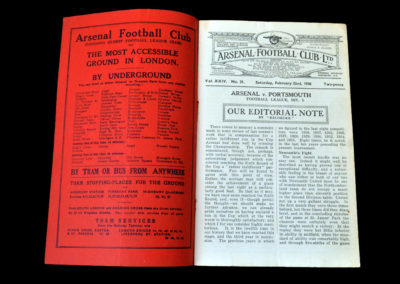 Arsenal v Portsmouth 22.02.1936