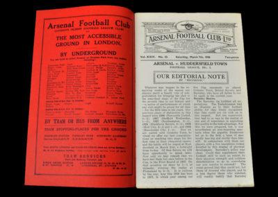 Arsenal v Huddersfield 07.03.1936