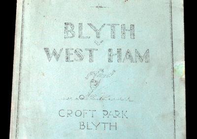 Blyth v West Ham 28.03.1936
