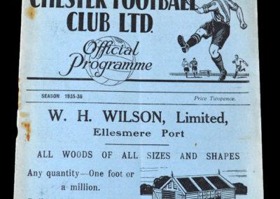 Chester V Stockport 10.04.1936