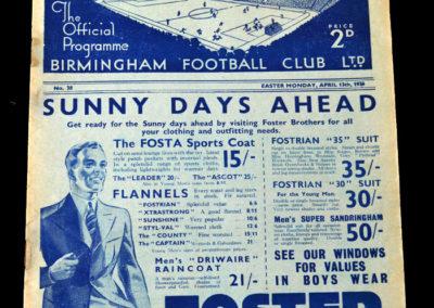 Birmingham v Sunderland 13.04.1936