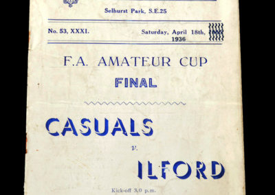 FA Amateur Cup - Casuals v Ilford 18.04.1936