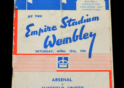 FA Cup Final - Arsenal v Sheffield Utd 25.04.1936