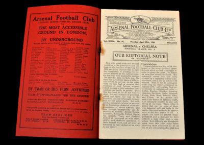 Arsenal v Chelsea 27.04.1936