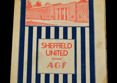 AGF v Sheff Utd 28.05.1936
