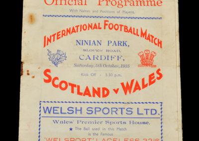 Wales v Scotland 05.10.1935