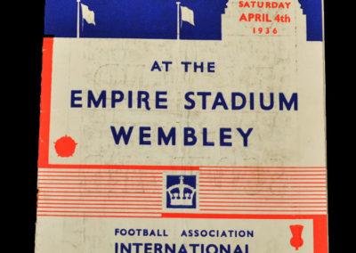 England v Scotland 04.04.1936