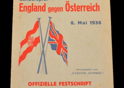 Austria v England 06.05.1936