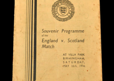England v Scotland 16.05.1936