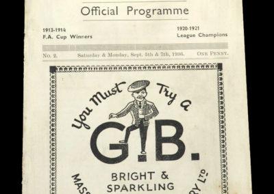 Burnley v Fulham 05.09.1936 - Burnley v Everton Reserves 07.09.1936