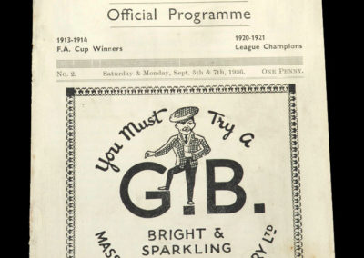 Burnley v Fulham 05.09.1936 - Lawton in the 1st team but still an amateur [Burnley v Everton Reserves 07.09.1936]